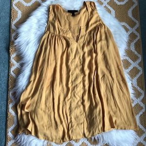 golden yellow lane bryant top size 16